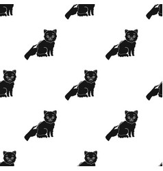 Grooming of a cat icon in black style isolated on vector
