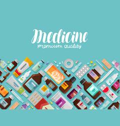 Medicine pharmacy pharmacology banner vector