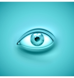 Background with eye vector image