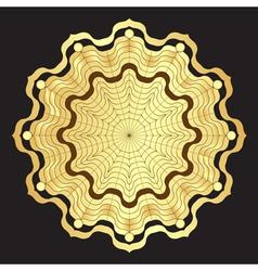 Gold round elegance frame vector image