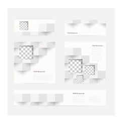 Banners and squares color set vector