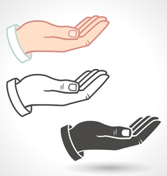 Hands giving gesture vector