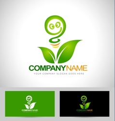 Green energy logo concept vector