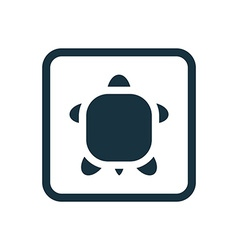 Turtle icon rounded squares button vector