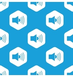 Loudspeaker hexagon pattern vector