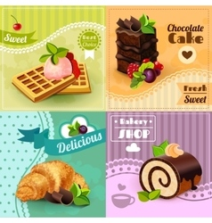 Bakery concept set vector