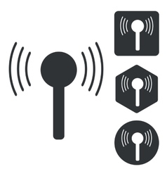 Signal icon set monochrome vector