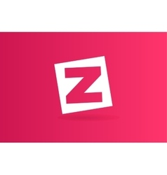Abstract z character logo icon template vector