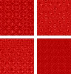 Dark red seamless pattern background set vector