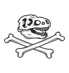 Prehistory dino logo concept t-rex insignia vector