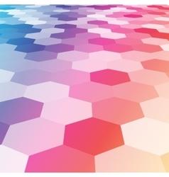 Abstract colorful hexagonal floor 3d vector
