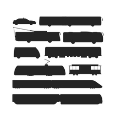 Black silhouette of trains vector