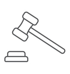 auction thin line icon e commerce and marketing vector image