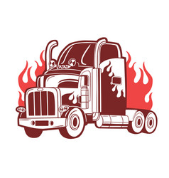 b logo with truck vector image vector image