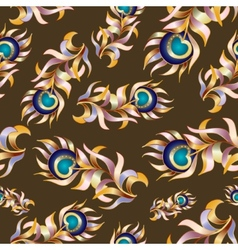 Bird feathers abstract seamless pattern vector image