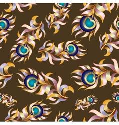 Bird feathers abstract seamless pattern vector