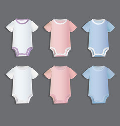 bodysuits for children patterns vector image vector image