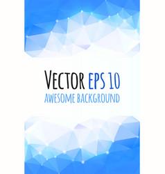 bright modern polygonal background vector image