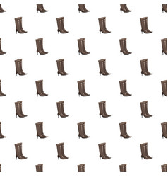 Brown high heel fashion boot pattern vector