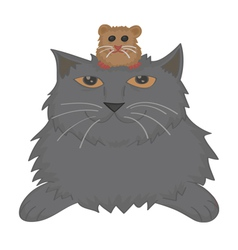 Cat and hamster vector
