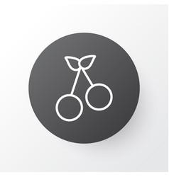 cherry icon symbol premium quality isolated sweet vector image