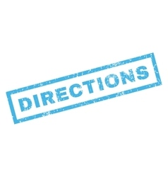 Directions rubber stamp vector