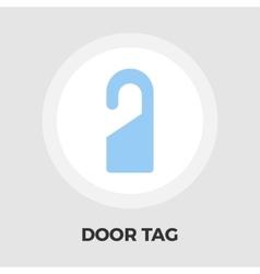 Door Tag Line Icon vector image vector image