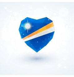 Flag of the marshall islands in shape diamond vector