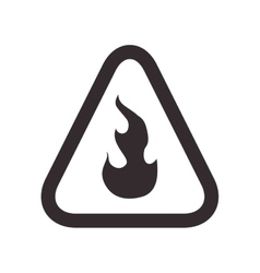 Flame road sign triangle warning icon vector