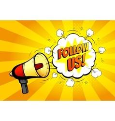 Follow us banner for website vector