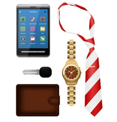 Of bussiness man accessories s vector