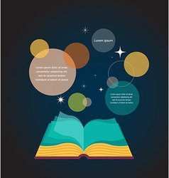 Open book concept design vector