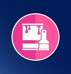 Paint bucket icon button logo symbol concept vector