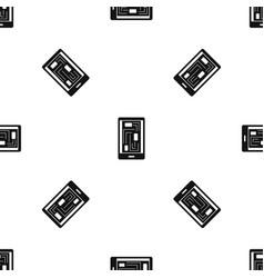 Phone innards pattern seamless black vector