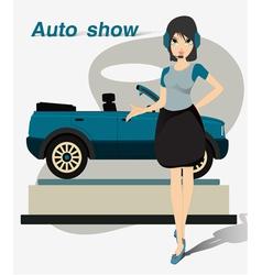 Pretty motor show vector