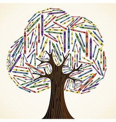 School art education concept tree vector image vector image