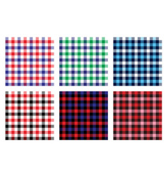 Seamless checkered plaid pattern bundle 4 vector