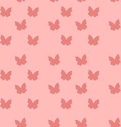 Seamless Texture with Butterflies Cute Vintage vector image