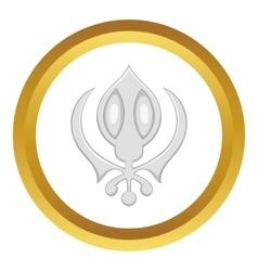 Sikhism symbol icon vector