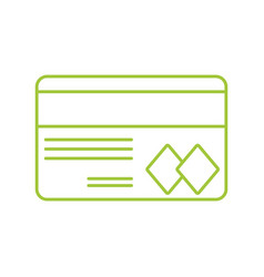 Silhouette credit card to financial business vector