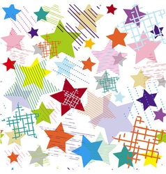 Stars abstract colorful seamless pattern vector image vector image