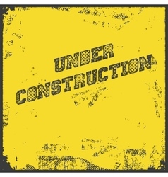 Under construction industrial background vector