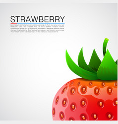 Fresh realistic strawberry background vector