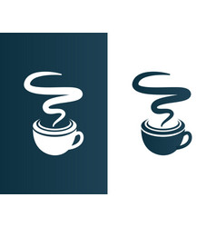 coffee cup logo business - isolated vector image