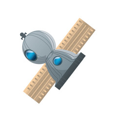 Satellite spaceship technology vector
