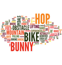 The bunny hop text background word cloud concept vector
