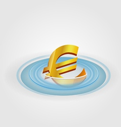 Euro ripple currency vector