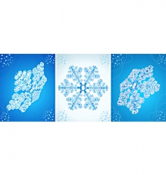 vector crystal snowflak vector