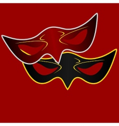 realistic illustration of carnivals mask vector image