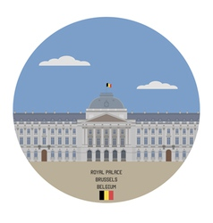 Royal palace brussels vector